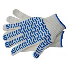 Перчатки х/б 5и-нитка с ПВХ (Волна) 10 кл.