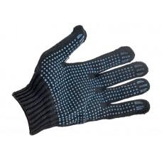 Перчатки х/б 5и-нитка с ПВХ (Точка) 10 кл. цв. Черный