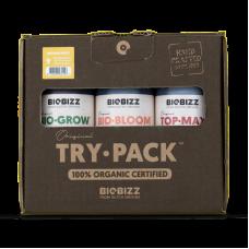 Комплект органических удобрений BioBizz Try pack indoor 3*250мл