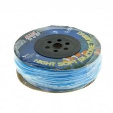 Трубка силиконовая на бабине голубой  6*4 100м