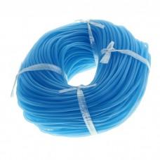 Трубка силиконовая в бухте голубая  Ф4мм