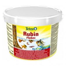 Tetra Rubin 10л ведро хлопья, корм для улучшения окраса