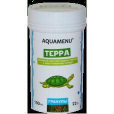 АКВА МЕНЮ Терра 100мл. основной корм для водных черепах, плавающие гранулы 22г.