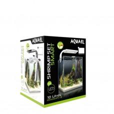 AQUAEL SHRIMP SET SMART PLANT ll 10 (белый), Креветкариум с LED освещением (3 вт)