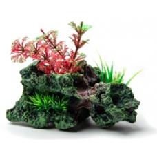 Биокерамика Риф с растениями К114 15*10*8 см