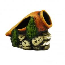 Амфора на камнях К04 керамика 14*9*9см