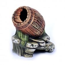Бочка на камнях К18 керамика 13*10*17см