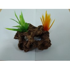 Биокерамика Риф с растениями К105 14*10*8 см