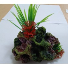 Биокерамика Риф с растениями К106 14*10*8 см