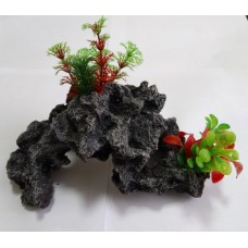 Биокерамика Риф с растениями К111 24*15*9 см