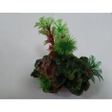 Биокерамика Риф с растениями К112 15*10*8 см