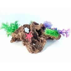Биокерамика Риф с растениями К110 14*10*8 см