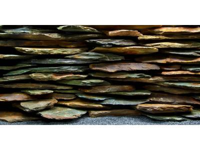 Фон двухсторонний Barbus Каменная стена - Дикая вода, выс 45см