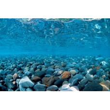 Фон для аквариума двухсторонний 30см Горная река- Зелёное море