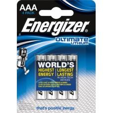 Батарейка Energizer Ultimate Lithium AAA LR3 FR03 4шт блистер
