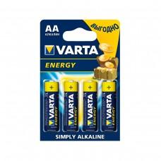 Батарейка Varta Energy AA Alkaline 4шт блистер 4106 LR06