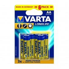 Батарейка Varta LongLife AA Alkaline 6шт блистер 4106 LR06