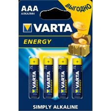Батарейка Varta Energy AAA Alkaline 4шт блистер 4103 LR03