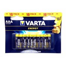 Батарейка Varta Energy AA Alkaline 10шт блистер 4106 LR06
