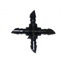 Соединитель крестовой 1/4 трубка пвх 7х4, 4bar
