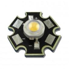 Светодиод белый 6500к + 3W звезда