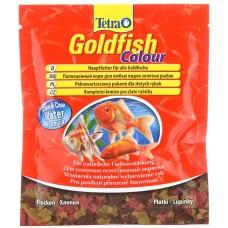 TetraGoldfish Colour 12г пакетик - корм хлопья для окраса золотых рыб