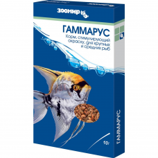 Корм Зоомир Гаммарус природный корм для рыб 10 г