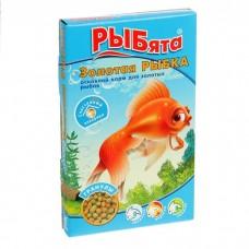 Рыбята Золотая Рыбка гранулы + сюрприз, корм для золотых рыб 25г