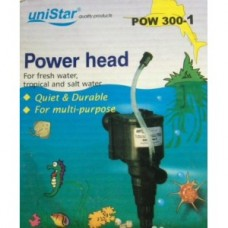 Водяная помпа фильтр 500 л/ч 8W h-0,7m uniStar POW 300-1