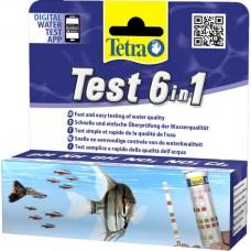 Тест 6 в 1 GH/kH/NO2/NO3/pH/CI полоски для пресной воды 25 шт