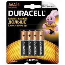 Батарейка Duracell AAA LR3 4шт в блистере