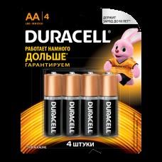 Батарейка Duracell AA LR6 4шт в блистере