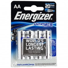 Батарейка Energizer Ultimate Lithium AA LR6 FR06 4шт блистер