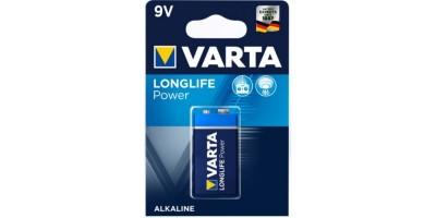 Батарейка Varta LongLife Power 9V 1шт блистер 4922
