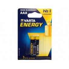 Батарейка Varta Energy AAA Alkaline 2шт блистер 4103 LR03